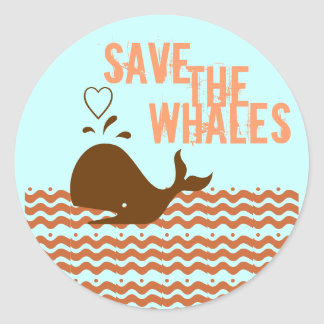 Save The Whales - Environmentally Conscious Stickers