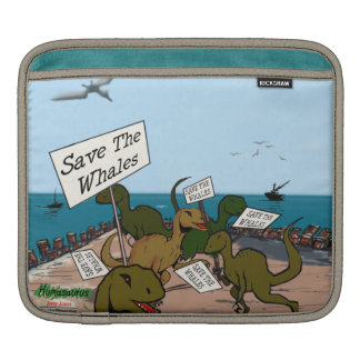 Save the Whales Personalized iPad Sleeve