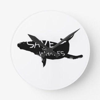 Save the Whales Round Clock