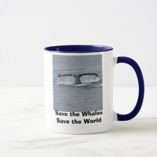 Save the Whales Save the World Coffe Mug