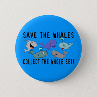 Save The Whales Set 6 Cm Round Badge