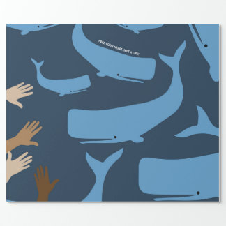 Save the Whales Wrapping Paper