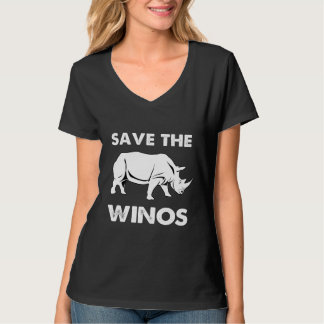 Save the Winos with Rhinoceros T-Shirt