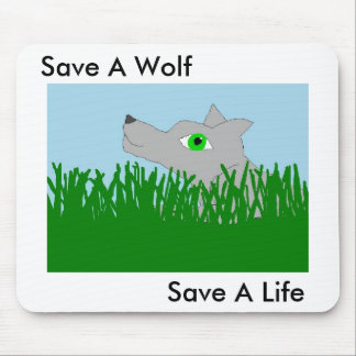 Save The Wolf Mousepad