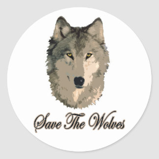 Save The Wolves Classic Round Sticker