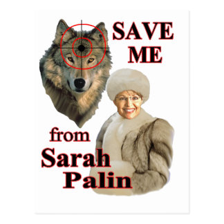 Save the Wolves from Sarah Palin Postcard
