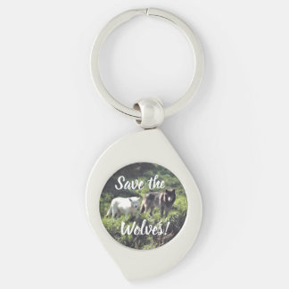 Save the Wolves keychain