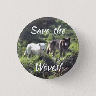 Save the Wolves pin