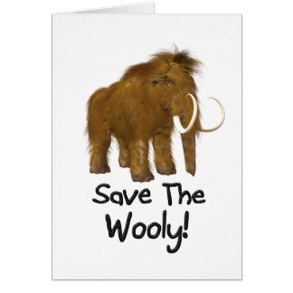 """Save The Wooly"" Wooly Mammoth Card"