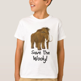"""Save The Wooly"" Wooly Mammoth T-Shirt"
