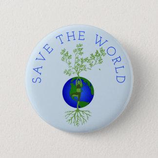 Save the World 6 Cm Round Badge