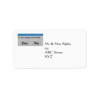 Save the World Avery Label Address Label