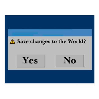 Save the World Postcard