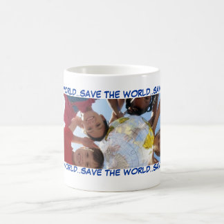 SAVE THE WORLD..SAVE THE WORLD..SAV... BASIC WHITE MUG