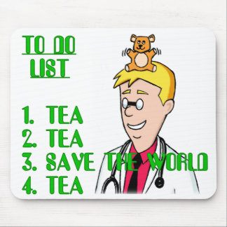 Save The World With Tea To Do List Mouse Pad