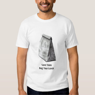 SAVE TREES: BAG LUNCH: PENCIL ART REALISM TEE SHIRTS