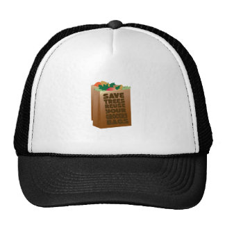 Save Trees Reuse Your Grocery Bags Cap