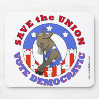 Save Union Vote DEM Mousepad