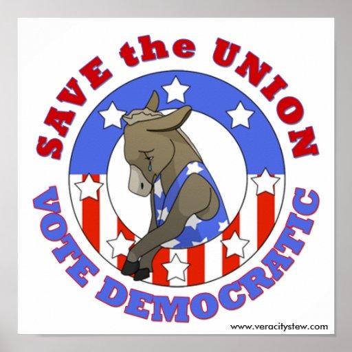 Save Union Vote DEM Poster