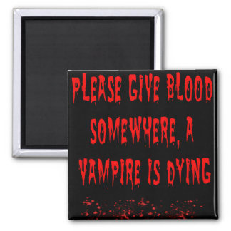 Save Vamps Square Magnet