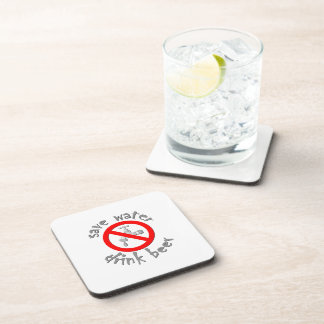 Save Water Drink Beer Funny Drinking Design Coaster