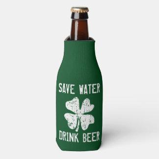 Save water drink beer Funny St Patricks Day holder Bottle Cooler