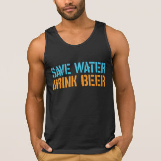 Save water drink beer singlet