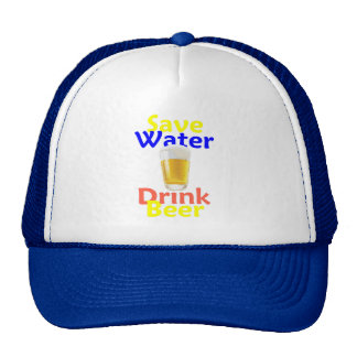 Save Water Drink Hat