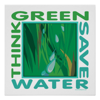 . Save Water Poster