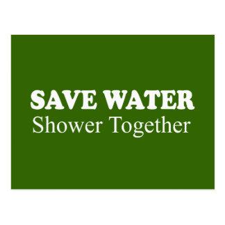 SAVE WATER, SHOWER TOGETHER POSTCARDS