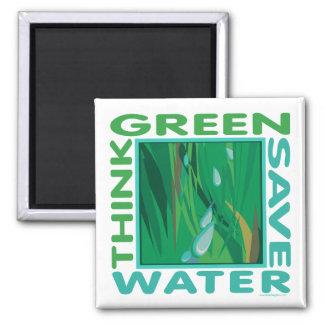 Save Water Square Magnet