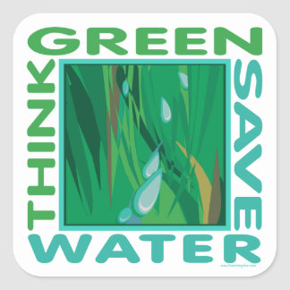 Save Water Square Sticker