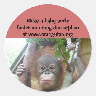 Save Wildlife Foster Orangutan Orphans Stickers