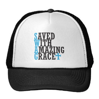 Save With Amazing Grace SWAG Christian Cross Hat
