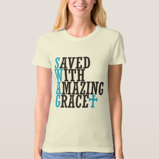 Save With Amazing Grace SWAG Christian T-Shirt Tee