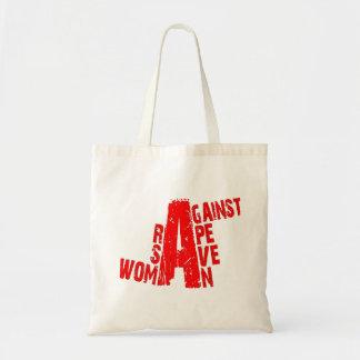 save woman against rape canvas bag