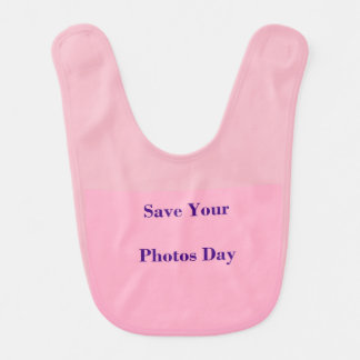 Save Your Photos Day Baby Bib