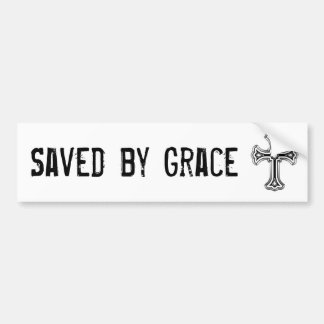 'Saved by Grace' bumper sticker