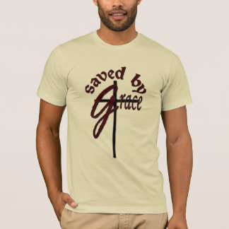 Saved by Grace Christian Cross Logo T-Shirt