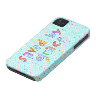 Saved By Grace Cute Christian Artsy Polkadots iPhone 4 Case