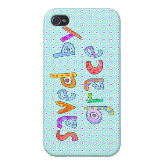 Saved By Grace Cute Christian Artsy Polkadots iPhone 4 Cases