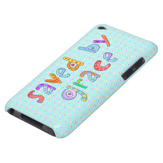 Saved By Grace Cute Christian Artsy Polkadots iPod Case-Mate Cases
