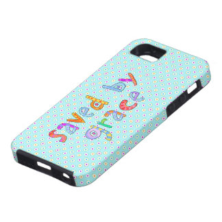 Saved By Grace Cute Christian Artsy Polkadots Tough iPhone 5 Case