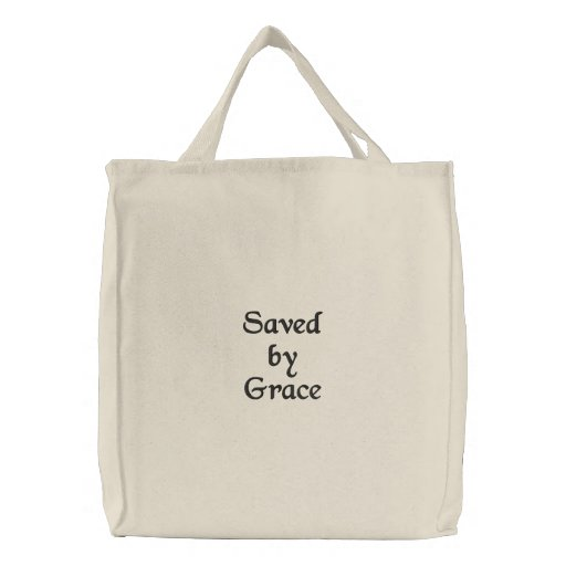 Saved by Grace Grocery bag