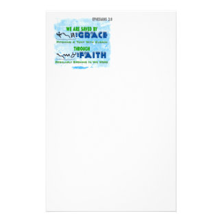 Saved By Grace Through Faith Stationery
