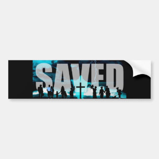 Saved Jesus Christ Cross Christian Bumper Sticker Car Bumper Sticker