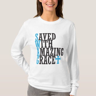 Saved With Amazing Grace SWAG Cross Hoodie