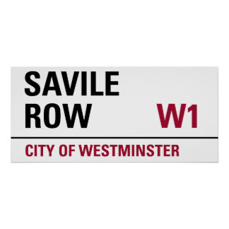 Savile Row Sign Poster