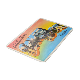 Savin Rock Connecticut CT Vintage Travel Souvenir Bath Mats