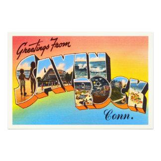 Savin Rock Connecticut CT Vintage Travel Souvenir Photo Art